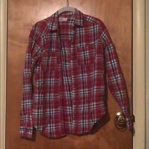 Holister Red Plaid button up